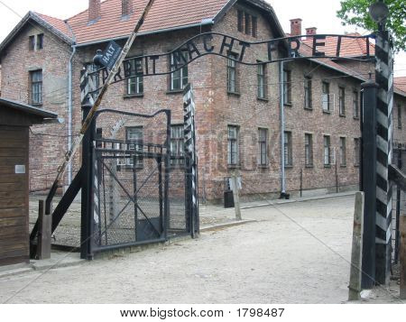 Auschwitz Nazis Concentration Camp Near Krakow In Poland