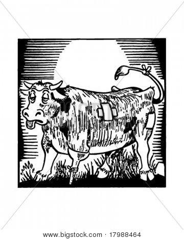 Bum Steer - Retro Ad Art Illustration