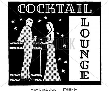 Cocktail Lounge 3 - Retro Ad Art Banner