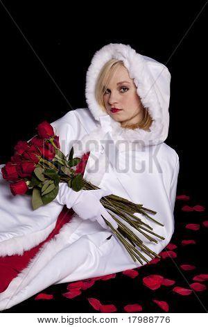 Coat Roses Black