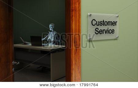 Servicio al cliente muerto