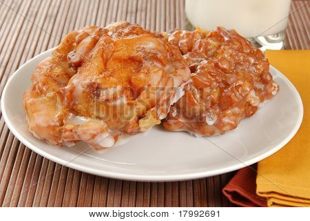 Plate Of Apple Fritters