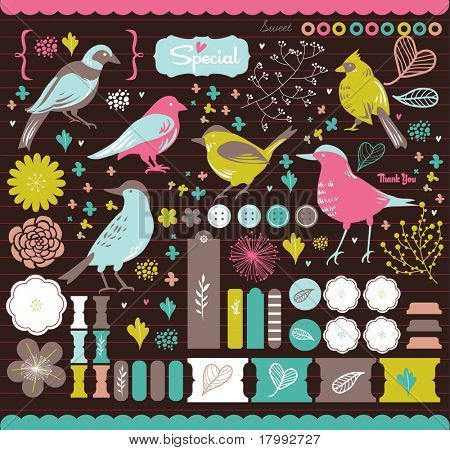 high quality scrapbook elements that you need - details and colorful