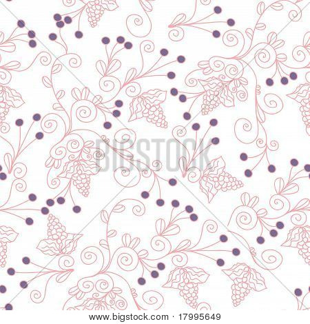 Seamless pattern with grape