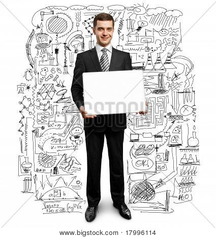 Businessman With Empty Write Board