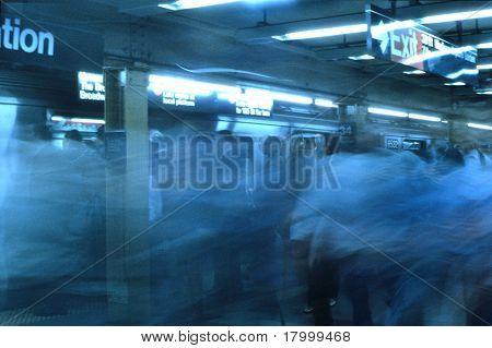 Rush Hour in Penn Station