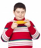 Boy Looking At A Boiled Corn