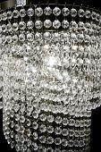 crystal strass lamp white over black background luxury interior design poster