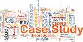 Background concept wordcloud illustration of case study