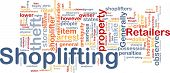 stock photo of shoplifting  - Background concept wordcloud illustration of shoplifting - JPG