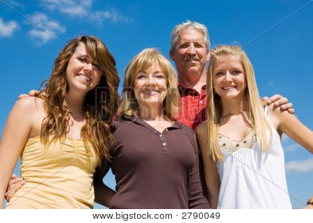Beautiful Family & Blue Sky