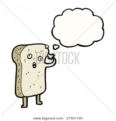 crazy toast cartoon character