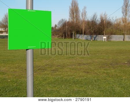 Sign With Grass Background