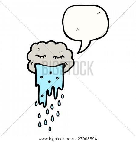 gross cartoon cloud vomiting rain