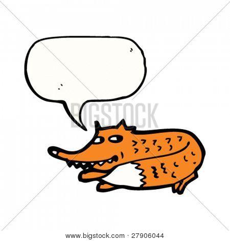 sneaky little fox cartoon