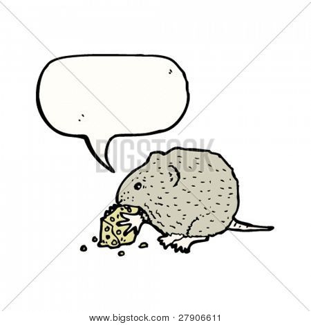 Field mouse nibbling cheese vector photo bigstock for Field mouse cartoon