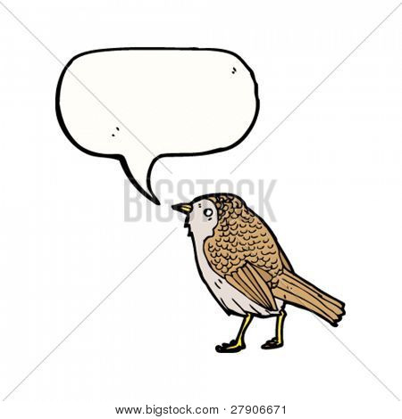 garden bird twittering illustration