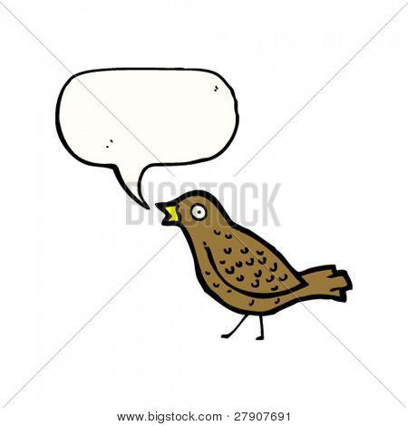 garden bird tweeting cartoon