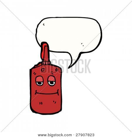 retro ketchup bottle cartoon