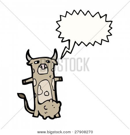 cow with speech bubble cartoon