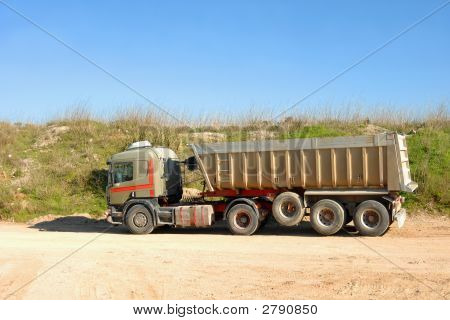Dump Truck In Construction Site
