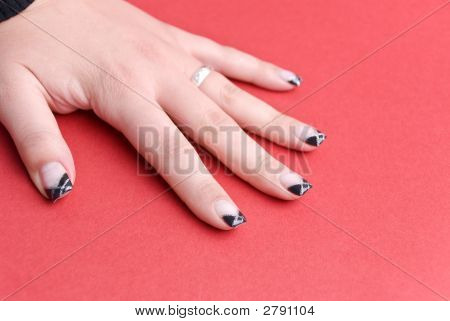 Fingernails Of The 19-Year-Old Girl, Of Course - Without Retouching
