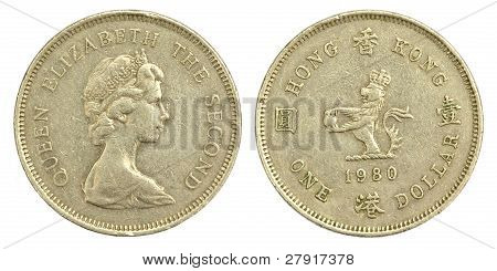 Old One Hong Kong Dollar of 1980