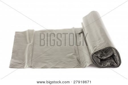 Roll Of Black Plastic Garbage Bags