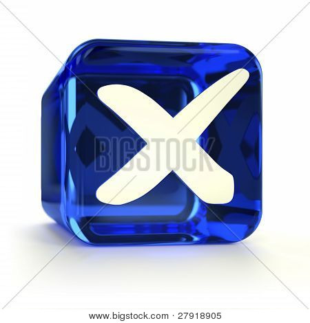 Blue Cross Mark Icon