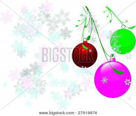 Vector christmas bulbs