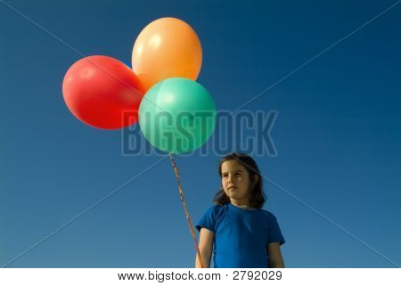 Girl And Baloons