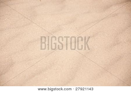 Sand On The Beach Close Up