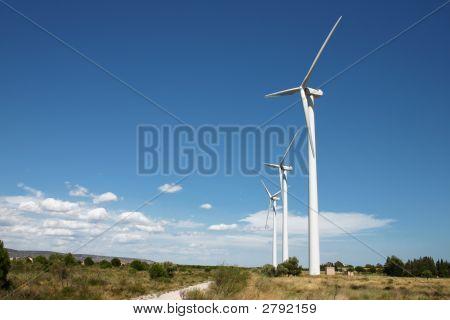 A Windmill Turbines