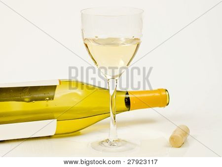 Bottle, Glass And Cork