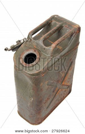 unclosed rusty jerry can