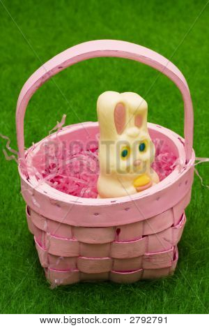 Easter Bunny In Basket