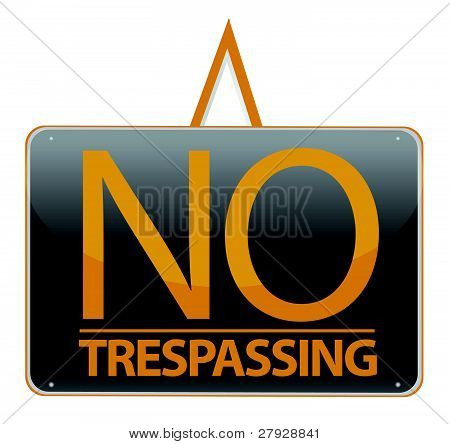 no trespassing sign illustration sign over white