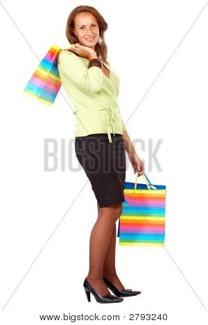 Woman Out Shopping