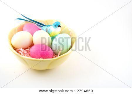 Huevos y aves bastante