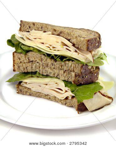 Turkey Sandwich On Whole Grain Bread