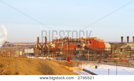 Old Industrial Steel Mill