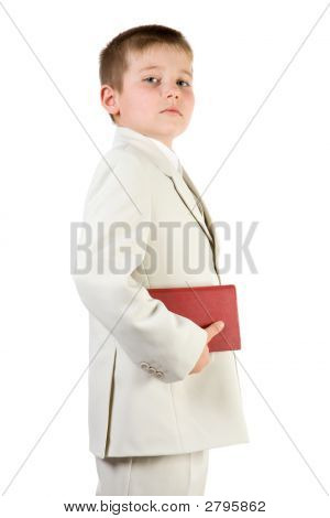 Well-Dressed Pride Boy Hold Book