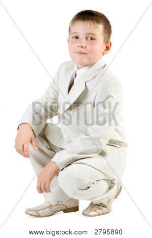 Serious Boy Like Businessman