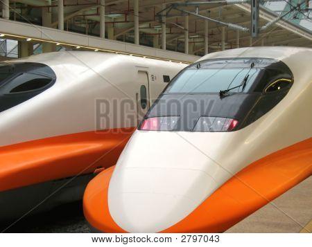 Modern High Speed Train Engine