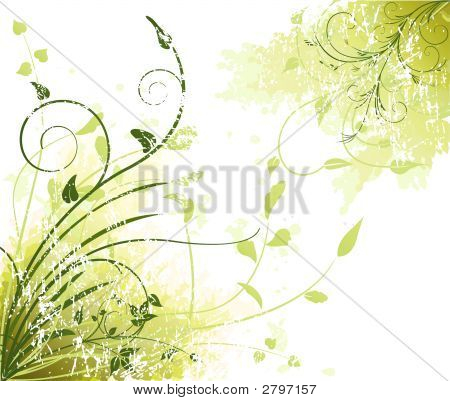 Floral  Artistic Vector Design Decor Background