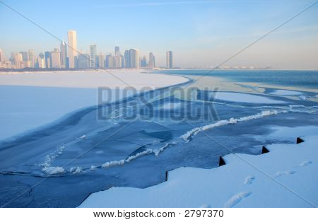 Chicago Skyline On Ice