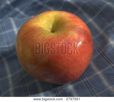Apple On Picnic Napkin