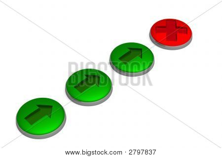 Set Of Buttons. 3D Image.