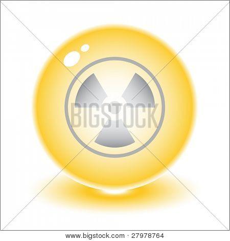 Ilustración de símbolo de radiación de vector. Simplemente cambiar. Otros vectores ecológicos que se puede ver en mi puerto