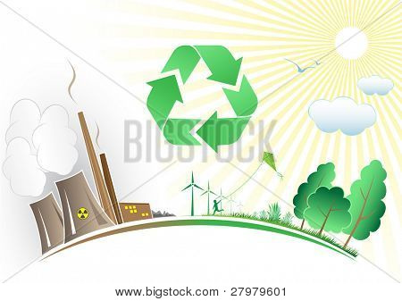Vector recycle symbol. Simply change. Other recycle symbols you can see in my portfolio.